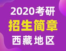 【研线网汇总】西藏地区各大院校2020年硕士研究生招生简章