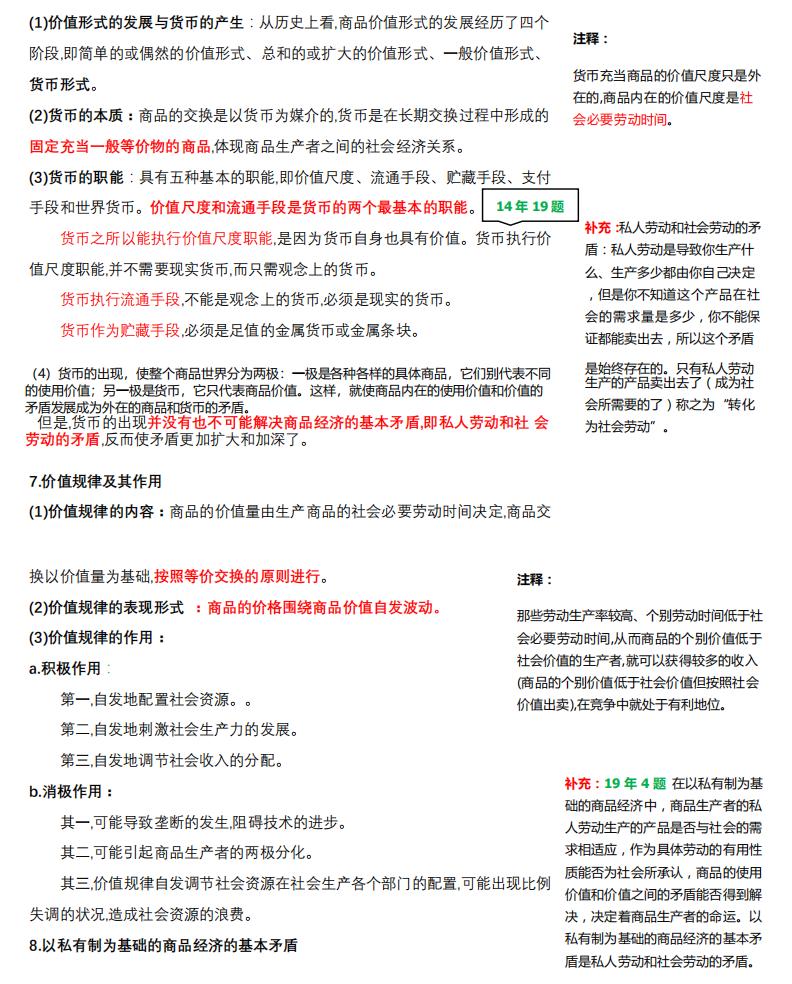 2021考研政治:马克思主义基本原理概论必背考点(VI)