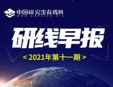 【2021年研线早报·第十一期】1月15日