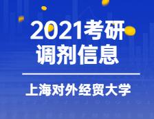 2021考研调剂信息:上海对外经贸大学2021年MBA调剂意向登记表通知